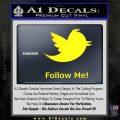 Customizable Twitter Follow Me Decal Sticker Yellow Laptop 120x120