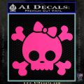 Cute Skull and Cross Bones Decal D1 Pink Hot Vinyl 120x120