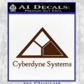 Cyberdyne Systems Jurassic Park Decal Sticker BROWN Vinyl 120x120