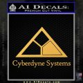Cyberdyne Systems Jurassic Park Decal Sticker Gold Vinyl 120x120