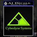 Cyberdyne Systems Jurassic Park Decal Sticker Lime Green Vinyl 120x120