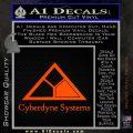 Cyberdyne Systems Jurassic Park Decal Sticker Orange Emblem 120x120