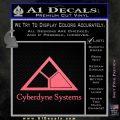 Cyberdyne Systems Jurassic Park Decal Sticker Pink Emblem 120x120