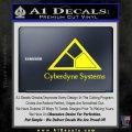 Cyberdyne Systems Jurassic Park Decal Sticker Yellow Laptop 120x120