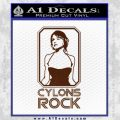 Cylons Rock Bsg Battlestar Galactica D1 Decal Sticker BROWN Vinyl 120x120