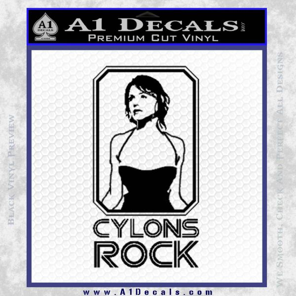 Cylons Rock Bsg Battlestar Galactica D1 Decal Sticker Black Vinyl