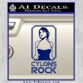 Cylons Rock Bsg Battlestar Galactica D1 Decal Sticker Blue Vinyl 120x120