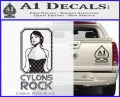 Cylons Rock Bsg Battlestar Galactica D1 Decal Sticker Carbon FIber Black Vinyl 120x97