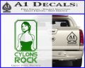 Cylons Rock Bsg Battlestar Galactica D1 Decal Sticker Green Vinyl Logo 120x97