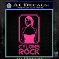 Cylons Rock Bsg Battlestar Galactica D1 Decal Sticker Pink Hot Vinyl 120x120