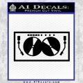 DJ Decal Sticker Turntables Black Vinyl 120x120