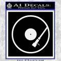 DJ Turntable Decal Sticker Black Vinyl 120x120