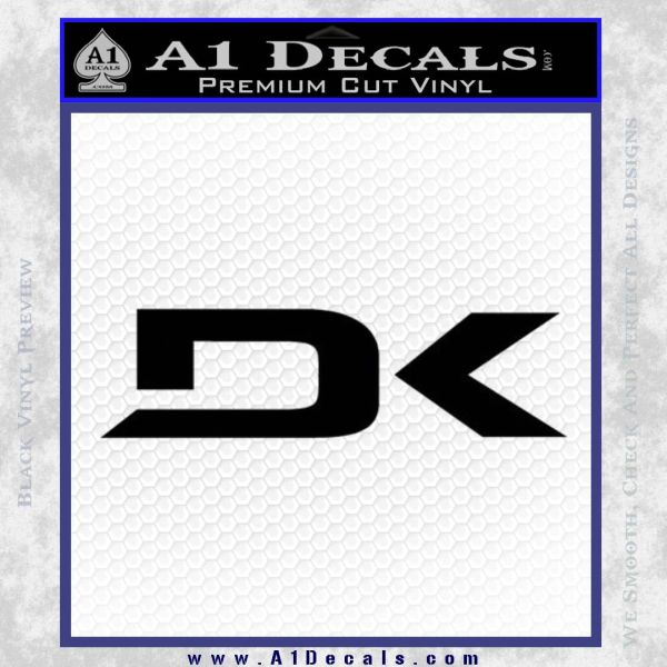 DaKine DK Decal Sticker Black Vinyl