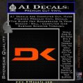 DaKine DK Decal Sticker Orange Emblem 120x120