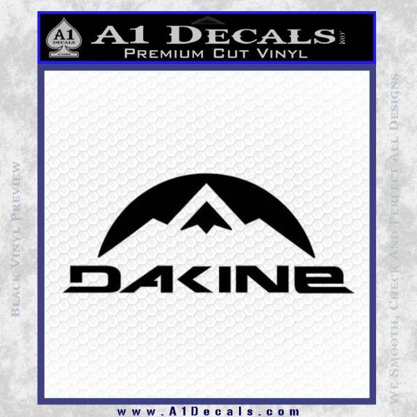 DaKine Decal Sticker Mountain Black Vinyl