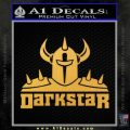 Dark Star Skate Decal Sticker V2 Gold Vinyl 120x120
