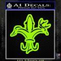 Deer Duck Fish Hunting Fishing Decal Sticker Lime Green Vinyl 120x120