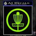 Disc Golf Decal Sticker Basket Lime Green Vinyl 120x120