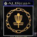 Disc Golf Decal Sticker Chain CR Gold Vinyl 120x120