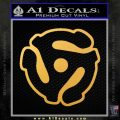 Dj 45 Adapter Spider Vinyl Record Decal Sticker Gold Vinyl 120x120
