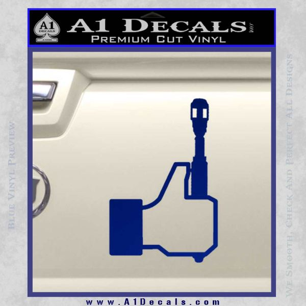 Doctor Who Facebook Like Sonic Screwdriver Decal Sticker Blue Vinyl