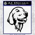 Dog A 1 Decal Sticker Black Vinyl 120x120