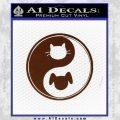 Dog Cat Yin Yang Decal Sticker BROWN Vinyl 120x120