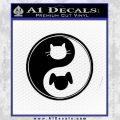 Dog Cat Yin Yang Decal Sticker Black Vinyl 120x120