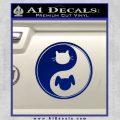 Dog Cat Yin Yang Decal Sticker Blue Vinyl 120x120