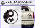 Dog Cat Yin Yang Decal Sticker Carbon FIber Black Vinyl 120x97