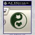 Dog Cat Yin Yang Decal Sticker Dark Green Vinyl 120x120