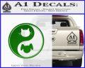 Dog Cat Yin Yang Decal Sticker Green Vinyl Logo 120x97