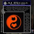Dog Cat Yin Yang Decal Sticker Orange Emblem 120x120