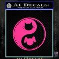 Dog Cat Yin Yang Decal Sticker Pink Hot Vinyl 120x120