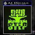Dubstep DJ Decal Sticker Lime Green Vinyl 120x120