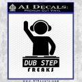 Dubstep Freaks DJ D2 Decal Sticker Black Vinyl 120x120