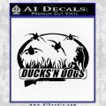 Ducks N Dogs Decal Sticker Black Vinyl 120x120