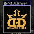 Dynamic Discs Decal Sticker Golf Gold Vinyl 120x120