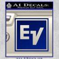 Electro Voice Decal Sticker Blue Vinyl 120x120