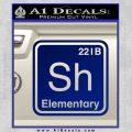 Element Of Deduction Sherlock Holmes Decal Sticker Blue Vinyl 120x120