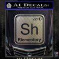 Element Of Deduction Sherlock Holmes Decal Sticker Carbon FIber Chrome Vinyl 120x120