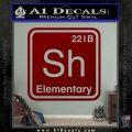 Element Of Deduction Sherlock Holmes Decal Sticker DRD Vinyl 120x120