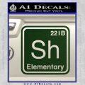 Element Of Deduction Sherlock Holmes Decal Sticker Dark Green Vinyl 120x120