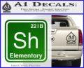 Element Of Deduction Sherlock Holmes Decal Sticker Green Vinyl Logo 120x97