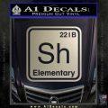 Element Of Deduction Sherlock Holmes Decal Sticker Metallic Silver Emblem 120x120