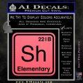 Element Of Deduction Sherlock Holmes Decal Sticker Pink Emblem 120x120