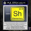 Element Of Deduction Sherlock Holmes Decal Sticker Yellow Laptop 120x120