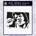 Elvis 68 Comeback Decal Sticker Black Vinyl 120x120