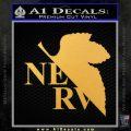 Evangelion NERV Logo Decal Sticker Gold Vinyl 120x120