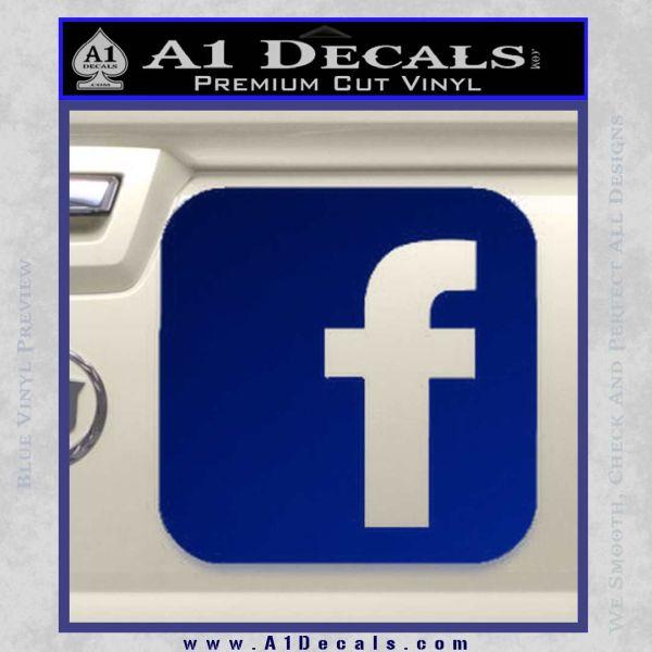 Facebook Customizable Decal Sticker Blue Vinyl